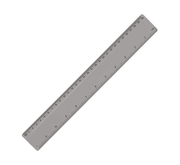 30cm Promotional Plastic Ruler - Grey