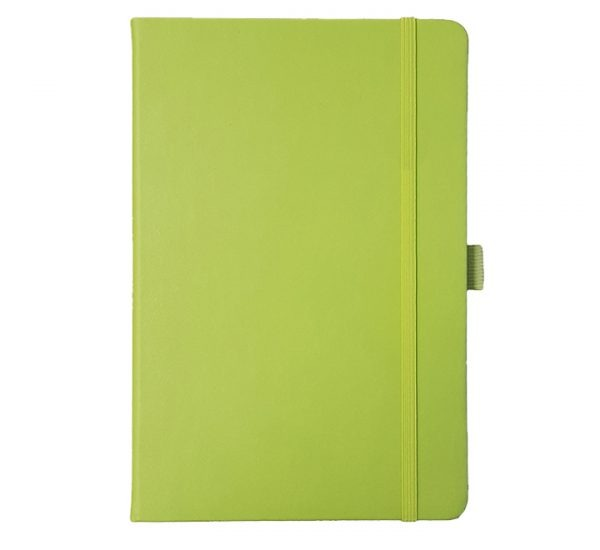 Albany A5 Notebook - lime green