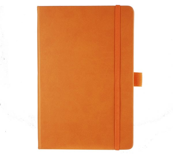 Albany A5 Notebook - orange