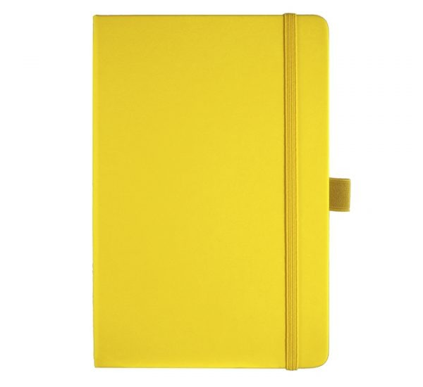 Albany A5 Notebook - yellow