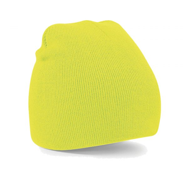 Beechfield Beanie Hat-fluorescent yellow