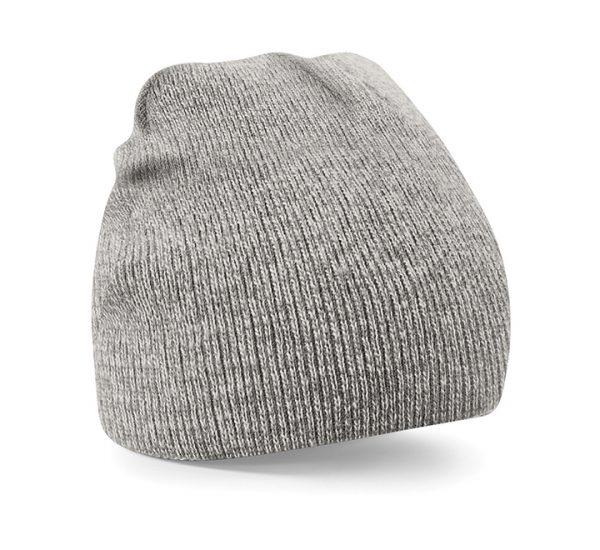 Beechfield Beanie Hat-heather grey