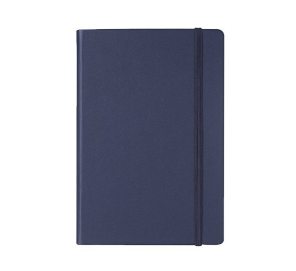 Branded A5 Premium Regency notebook-navy blue