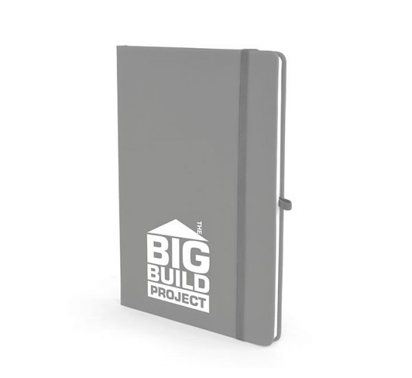 A5 Soft Touch Notebook-Cool Grey