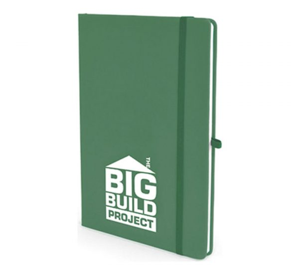 A5 Soft Touch Notebook-Green