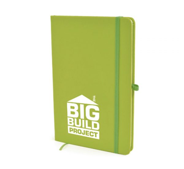 A5 Soft Touch Notebook-Light Green