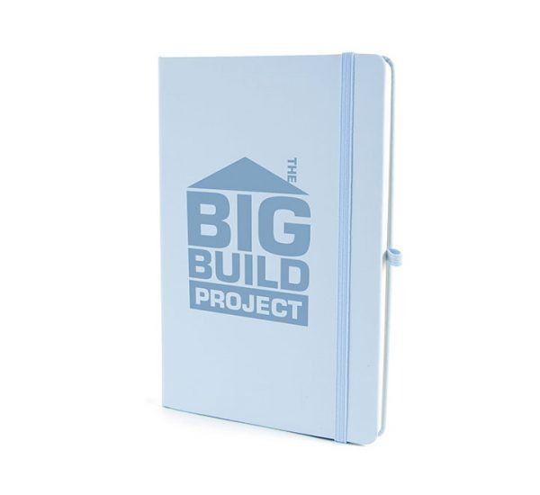 A5 Soft Touch Notebook-Pastel Blue