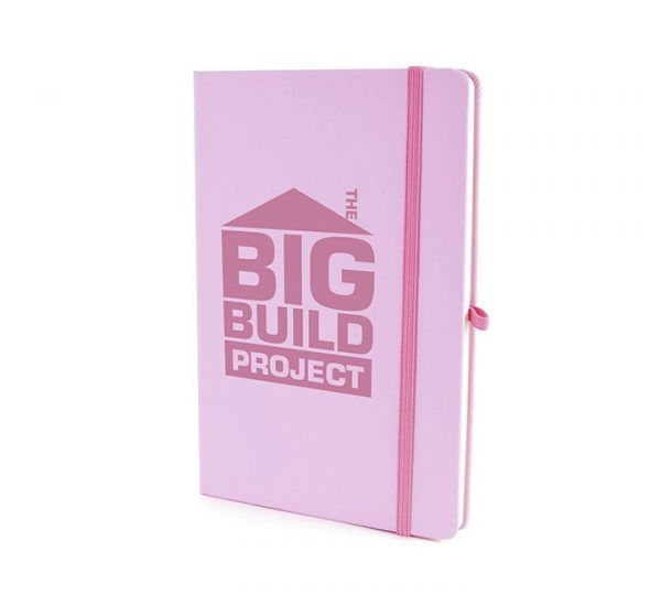 Coloured A5 Notebook-Pastel Pink