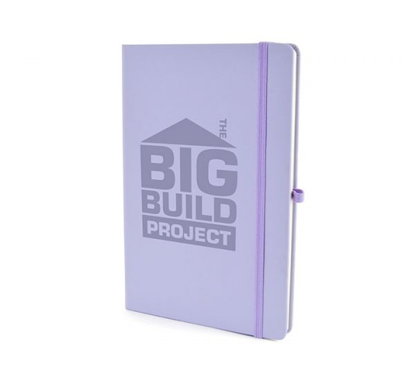 A5 Soft Touch Notebook-Pastel Purple