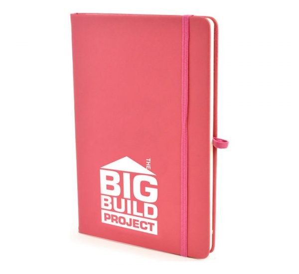 A5 Soft Touch Notebook-Pink