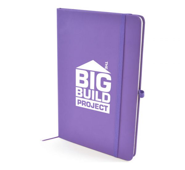 Coloured A5 Notebook-Purple