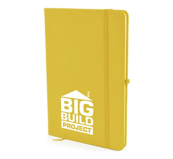 A5 Soft Touch Notebook - yellow