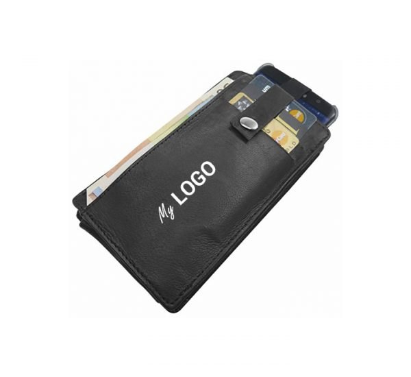 Blackmaxx RFID Leather Promotional Mobile/Money Wallet