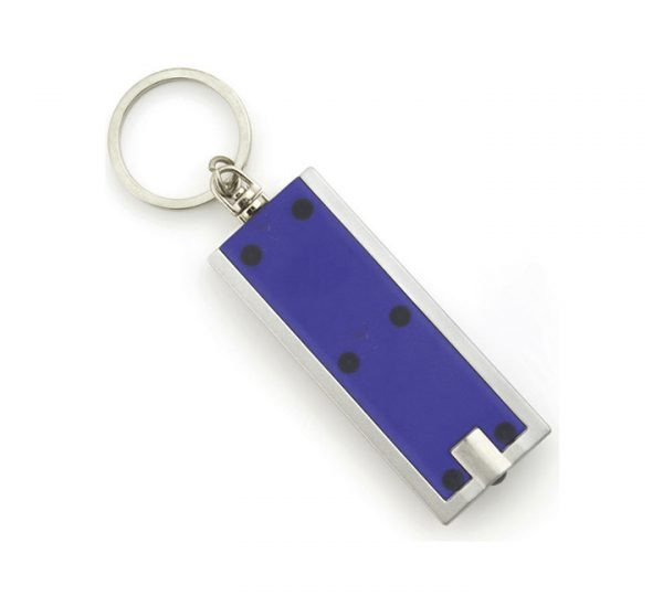 Printed Promotional LED Keyring Torch-blue