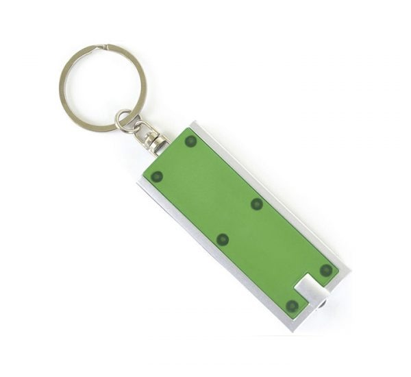 Printed Promotional LED Keyring Torch-green