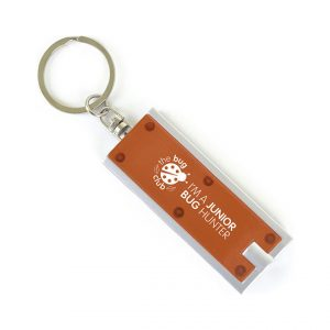 Printed Promotional LED Keyring Torch-printed