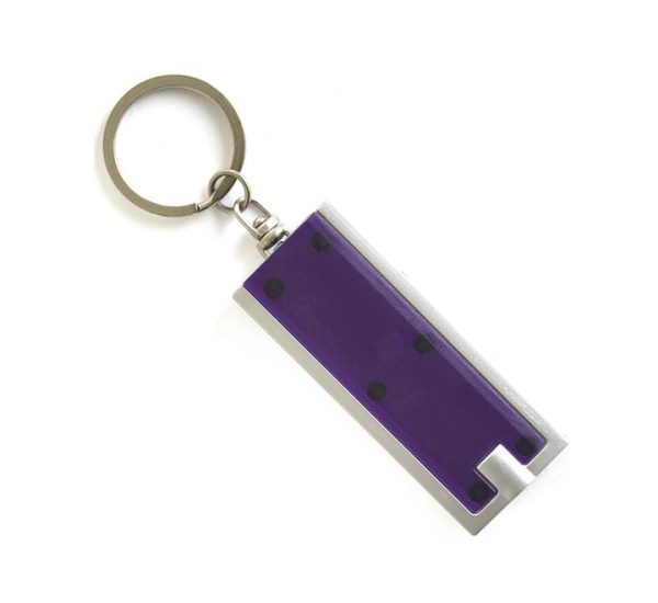 Printed Promotional LED Keyring Torch-purple