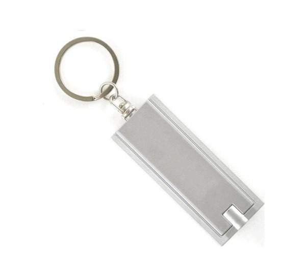 Printed Promotional LED Keyring Torch-silver