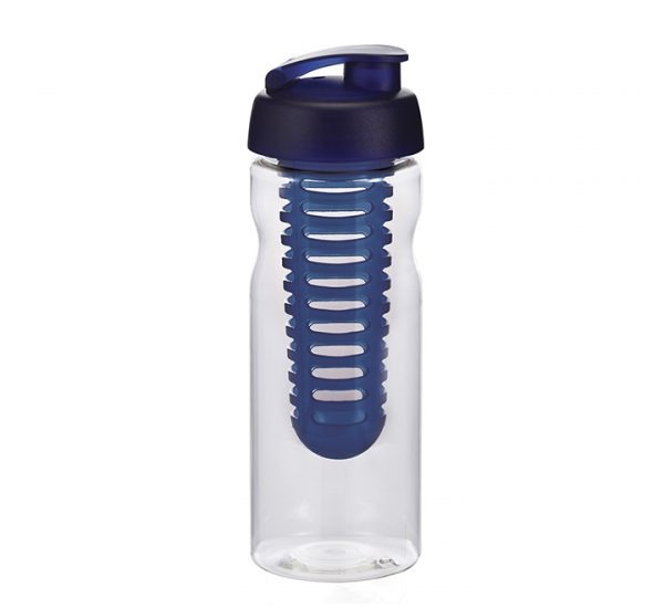 Promotional H20 Sports Bottle-black-clear-blue