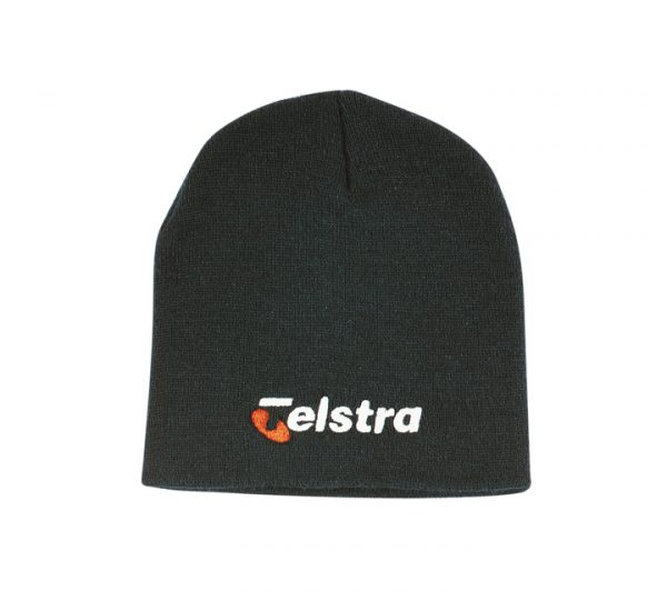Promotional Roll Down Beanie Hat-black