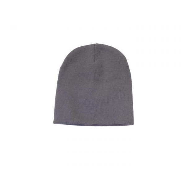 Promotional Roll Down Beanie Hat-grey