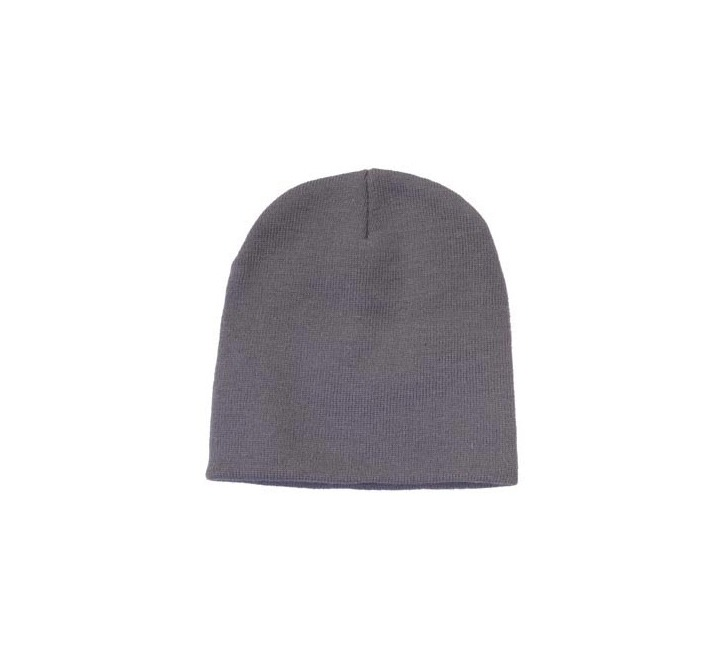 8481ec4d2ec68 Promotional Roll Down Beanie Hat-grey
