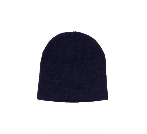 Promotional Roll Down Beanie Hat-navy