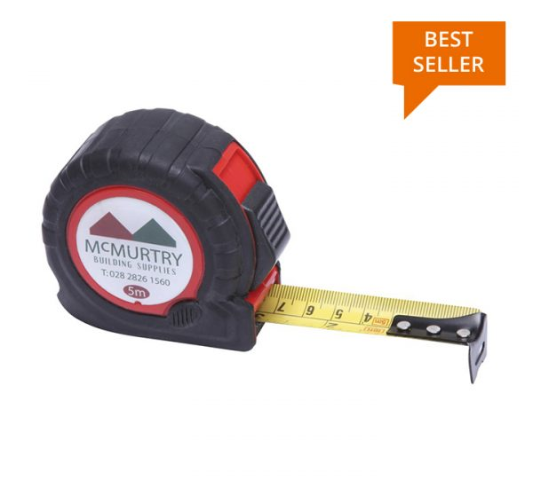 Promotional Tape Measure - TT5 Red open