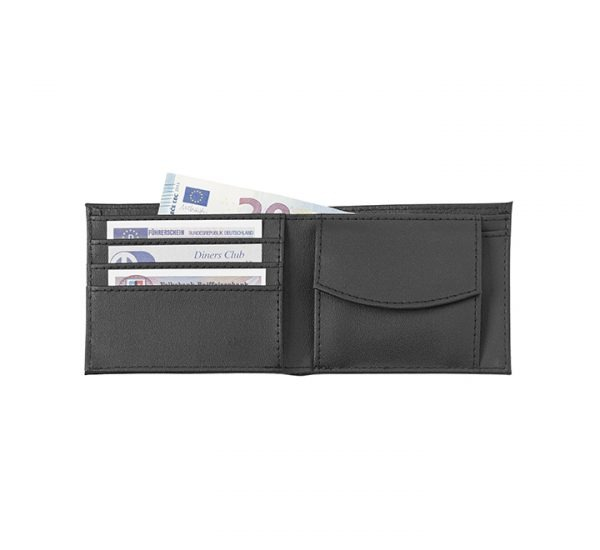 Promotional basic leather wallet-inside
