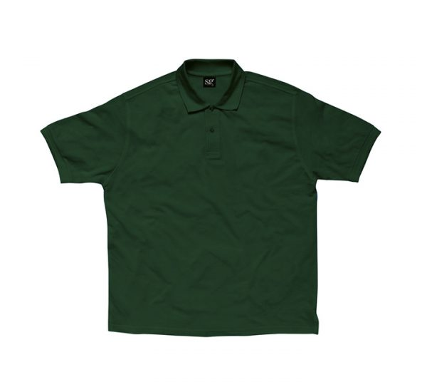 Promotional company polo shirt-bottle-green