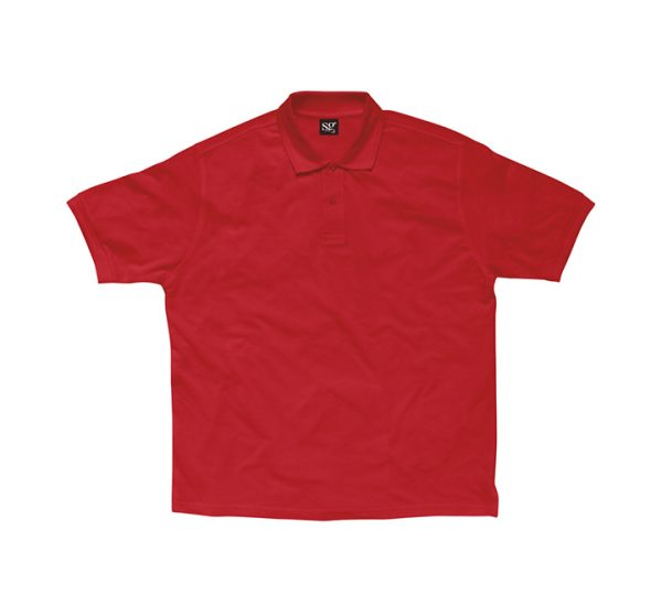 Promotional company polo shirt-red