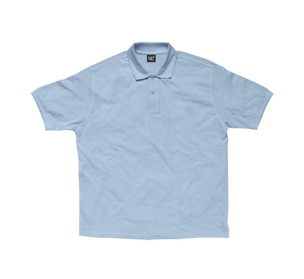 Promotional company polo shirt-sky-blue