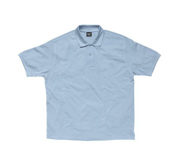 Promotional company polo shirt-sky-blue