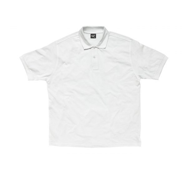 Promotional company polo shirt-white