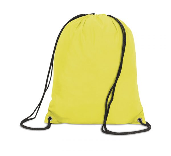 Stafford Promotional Drawstring Rucksack-canary yellow