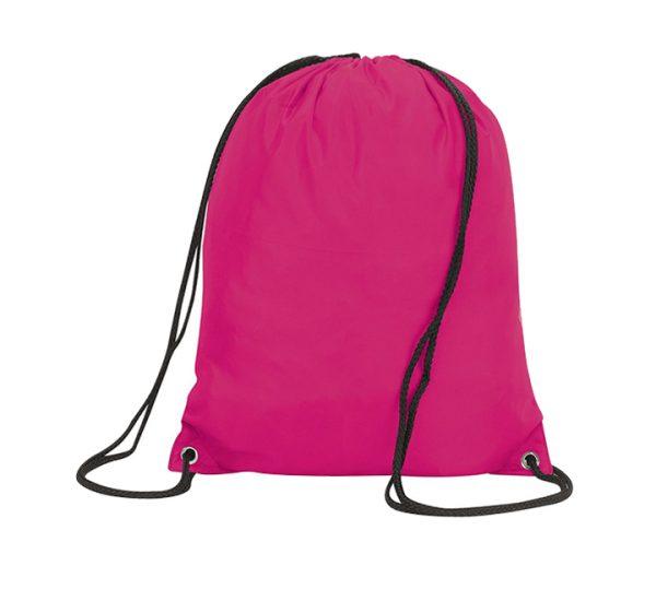 Stafford Promotional Drawstring Rucksack-hot-pink