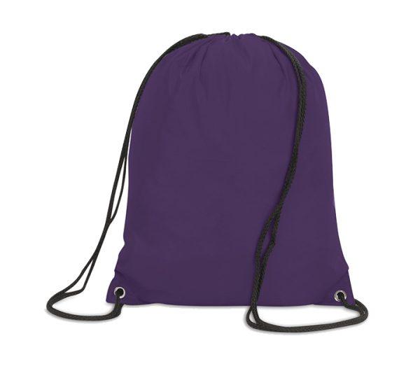 Stafford Promotional Drawstring Rucksack-purple