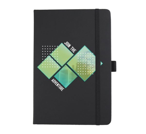 A5 branded notebook - black
