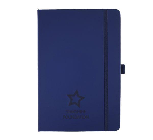 A5 branded notebook -navy