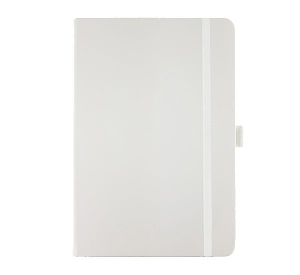 A5 branded notebook -white