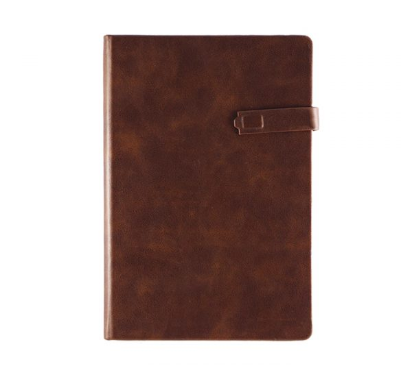 Premium Regency A5 Executive notebook-magnetic-brown