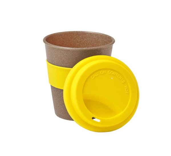 Bamboo Fibre Cup-Yellow-open