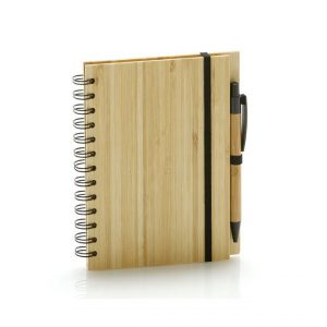 Bamboo Notebook & Pen Set-front