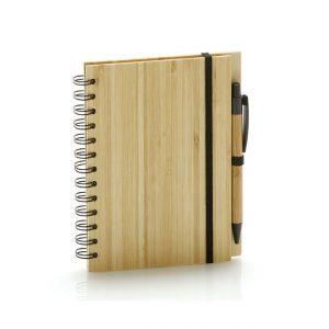 Bamboo Notebook & Pen Set-front