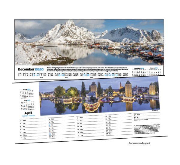 Panorama Calendar Layout
