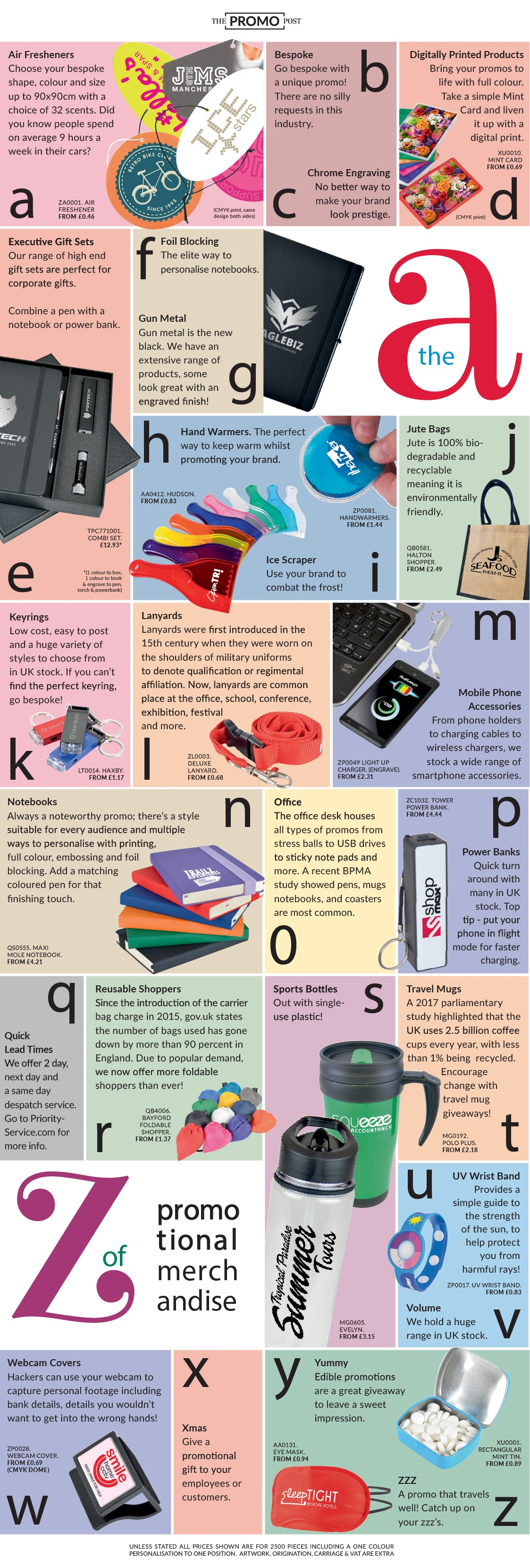 A to Z of Promotional Merchandise