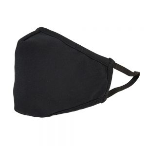Black 3-ply Cotton Face Mask