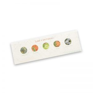 Seed Paper Bookmarker